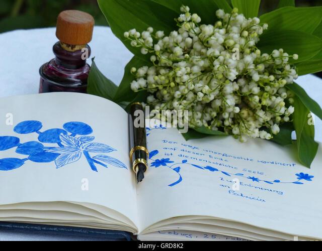 Poesie-Album und Nostalgie Stockbild