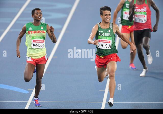 Rio De Janeiro, Brasilien. 11. September 2016. (L-R) Tamiru Demisse (ETH), Abdellatif Baka (ALG) Leichtathletik: Stockbild