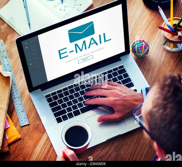 E-Mail-digitale Homescreen-Konzept Stockbild