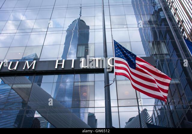 New York City, USA. 11. September 2016. New Yorker feierten die Erinnerung an diejenigen, die ihr Leben im September Stockbild