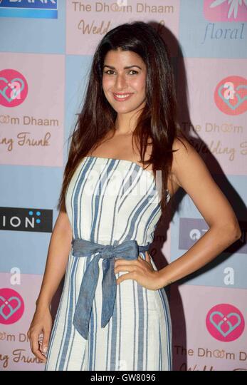 Bollywood-Schauspieler Nimrat Kaur während Star-Stylist, Tanya Ghavri Dhoom Kondensation Hochzeit Trunk Show, Stockbild
