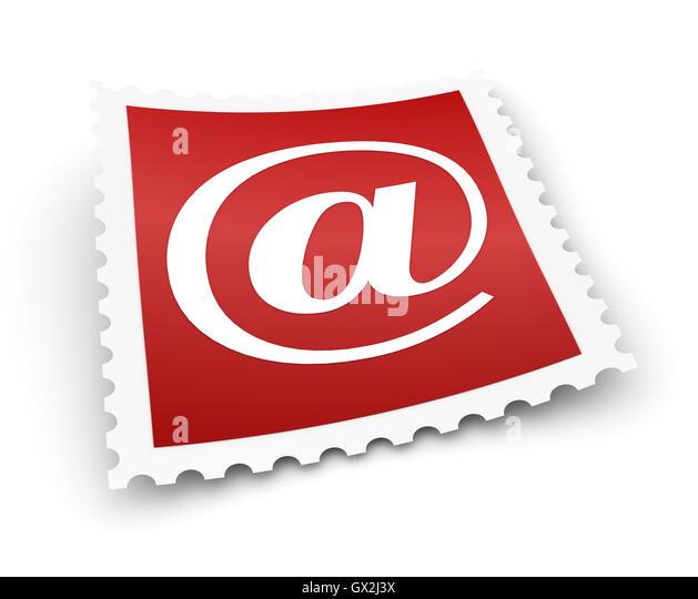 e Mail Briefmarke Konzept 3d illustration Stockbild