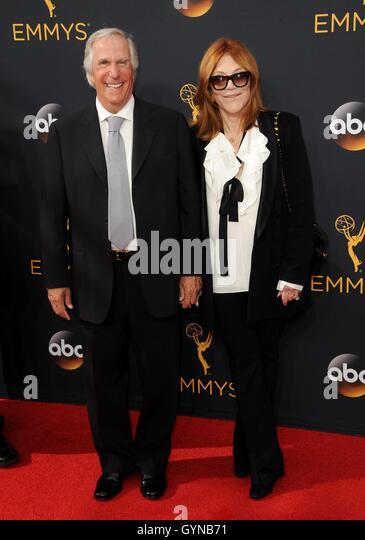 Los Angeles, CA, USA. 18. September 2016. Henry Winkler im Ankunftsbereich für das 68. Annual Primetime Emmy Stockbild
