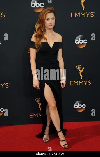 Los Angeles, CA, USA. 18. September 2016. Grace Gummer im Ankunftsbereich für das 68. Annual Primetime Emmy Stockbild