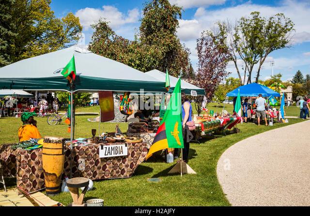 Kultur Fest 2016 statt in Bethel Heritage Park, Winkler, Manitoba, Kanada. Stockbild