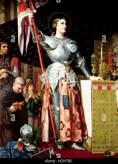 """""""Joan of Arc"""" Joan bei der Krönung von Charles VII Stockbild"""
