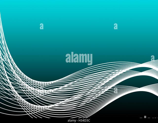 Türkis kurvigen Hintergrund zeigt Grafik-Design oder moderne Kunst Stockbild