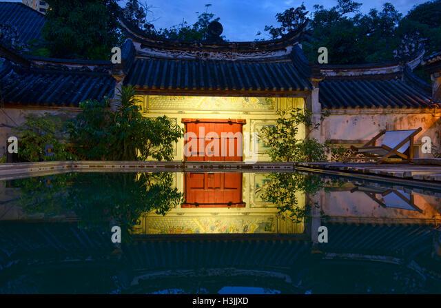 Das Sou Heng Tai Teakholz chinesische Haus, Bangkok, Thailand Stockbild