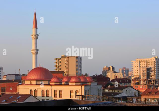 Panoramablick über die Stadt Zentrum von Pristina, Kosovo Stockbild