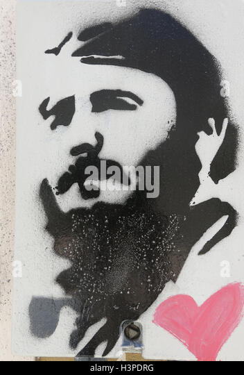 Hommage an Fidel Castro n quadratische Katalonien, Barcelona, Spanien. Er war ein kubanischer Politiker und revolutionär Stockbild