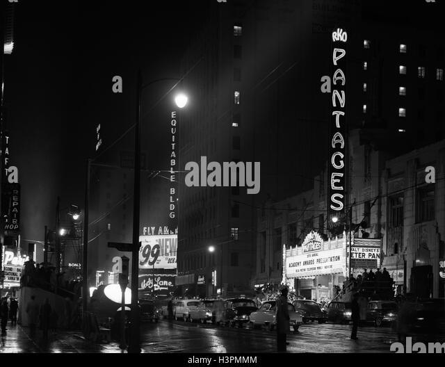 1950S 1953 IM FERNSEHEN PANTAGES THEATER AKADEMIE PREISVERLEIHUNG ZUERST SENDUNG LOS ANGELES KALIFORNIEN USA Stockbild