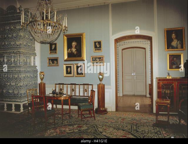 rococo castle interior stockfotos rococo castle interior