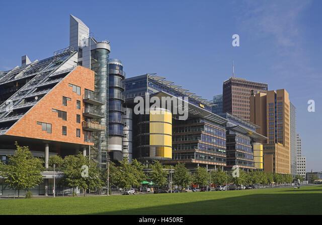 Deutschland, Berlin, Linkstraße, Bürogebäude, Stadt, Hauptstadt, Teil Stadt, Architektur, Gebäude, Stockbild
