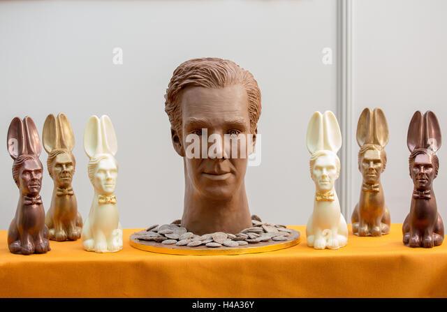 Skulptur von Schokolade. Die Chocolate Show findet statt bei Olympia London, UK vom 14.-16. Oktober 2016, als das Stockbild
