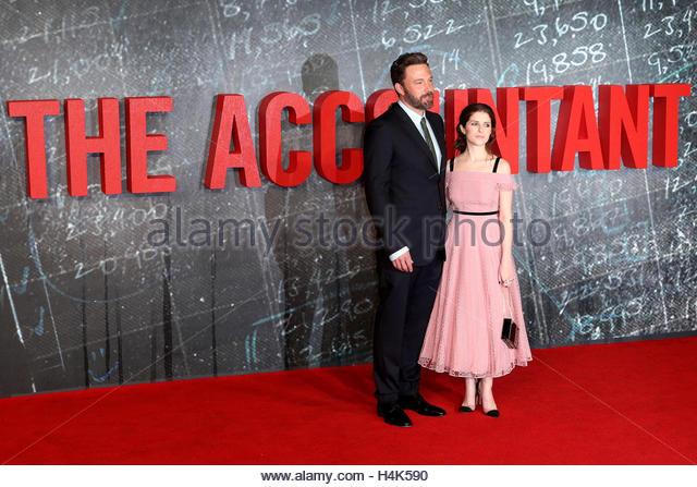 London, UK. 17. Oktober 2016. Ben Affleck und Anna Kendrick besuchen Sie die Europa-Premiere des Films The Buchhalter Stockbild