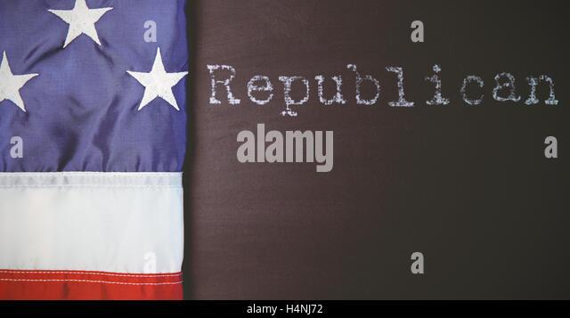 Zusammengesetztes Bild der Republikaner Stockbild