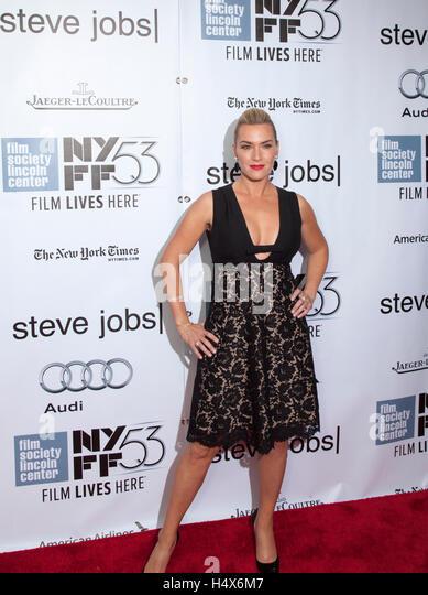 Schauspielerin Kate Winslet besucht Steve Jobs Premier auf dem 53. New York Film Festival in der Film Society of Stockbild