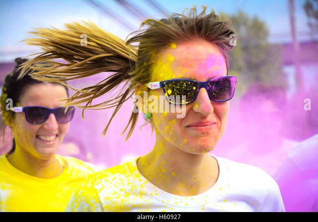 Die Farbe-Laufwettbewerb Stockbild