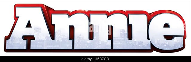 FILM PLAKAT ANNIE (2014) Stockbild