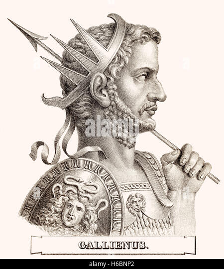 Gallienus, c. 218-268, römischer Kaiser - Stock-Bilder