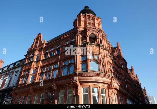 Wigan Bibliothek ehemalige städtische Gebäude England United Kingdom - Stock-Bilder