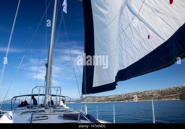 Yacht, Segelregatta. Stockbild