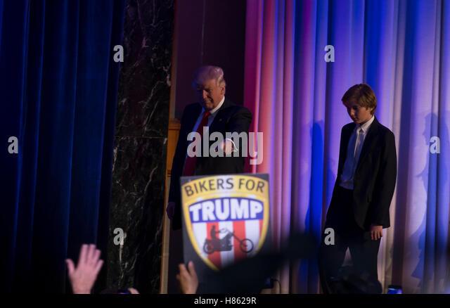 New York, Vereinigte Staaten von Amerika. 9. November 2016. Donald Trump 45. Präsident der USA gewählt Stockbild