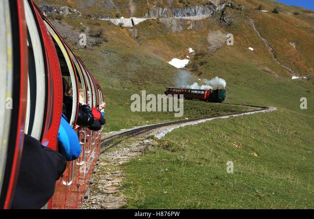 Brienzerrothorn-Bahn, Berner Oberland, Schweiz Stockbild