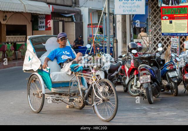 Alltag der Thais in Hua Hin Thailand Stockbild