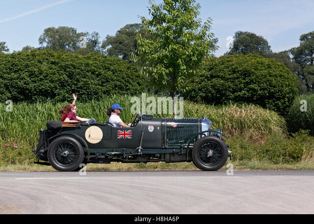 Aufgeladenen 4,5 Liter Bentley, 1930 Modell, britische Oldtimer Classic Tage Dyck 2016 Jüchen, Niederrhein Stockbild