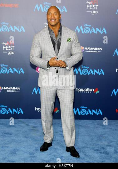 "Hollywood, Kalifornien, USA. 14. November 2016. Dwayne Johnson beim AFI FEST 2016 Premiere der ""Moana"" Stockbild"