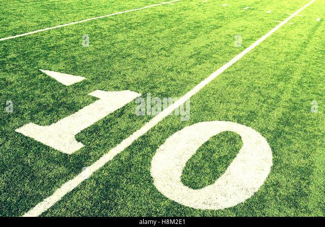 10-Yard-Linie Stockbild