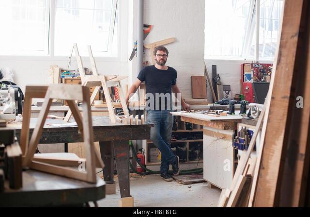 Porträt von einem Designer Möbelhersteller - Stock-Bilder