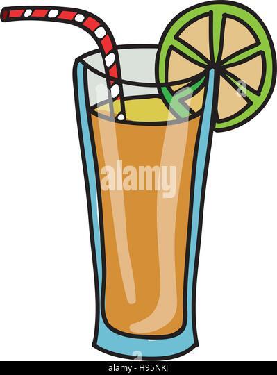 Obst Saft Glas Symbolbild Stockbild