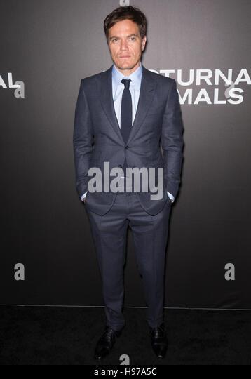 New York City, USA - 17. November 2016: Schauspieler Michael Shannon besucht die 'Nachttiere' NewYork-Premiere Stockbild