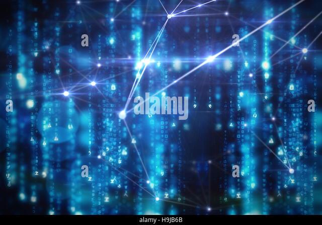 Leuchtenden blauen Hintergrund Stockbild