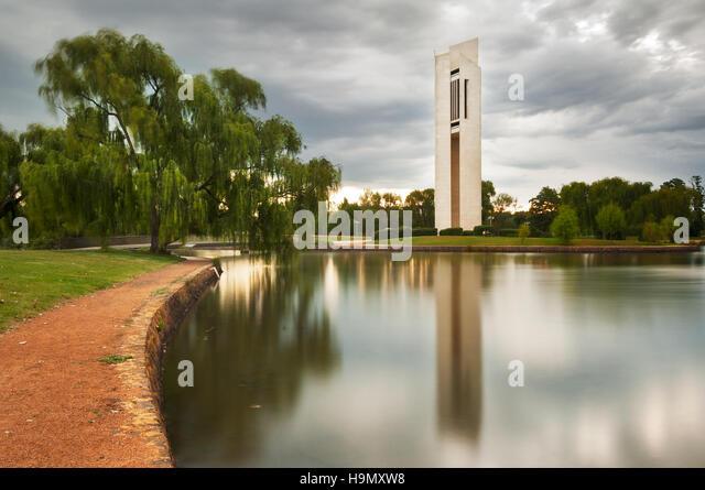 Die nationalen Carillion in Australiens Hauptstadt Canberra. Stockbild