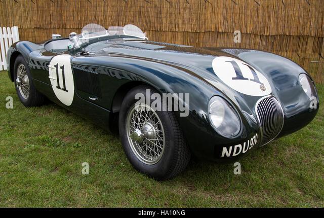 Jaguar C-Type, Goodwood Revival 2016. Stockbild