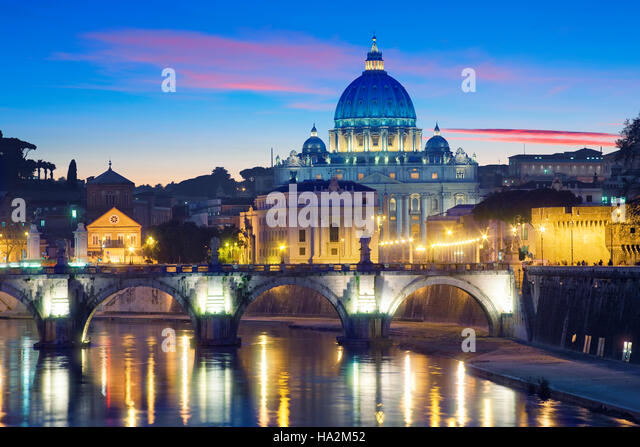 Str. Peters Basilica in Rom, Italien Stockbild