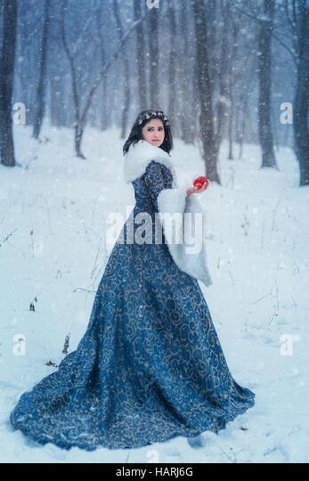Porträt von Snow White Stockbild