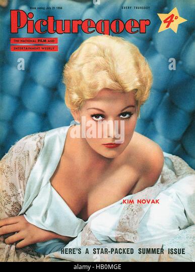 Vordere Abdeckung des Picturegoer Magazin für 21. Juli 1956 mit Schauspielerin Kim Novak Stockbild