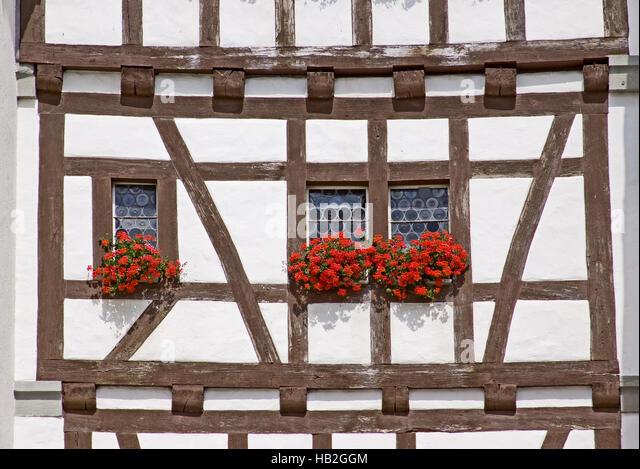 Fassade am Untertor Stein bin Rhein Swiss Stockbild