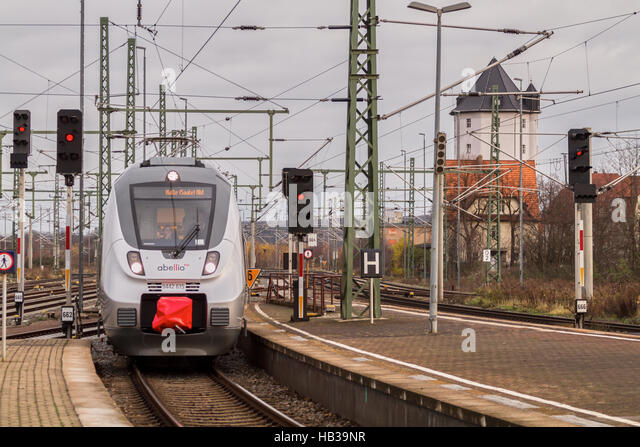 Abellio: Abellio-Zug in Weimar Stockbild
