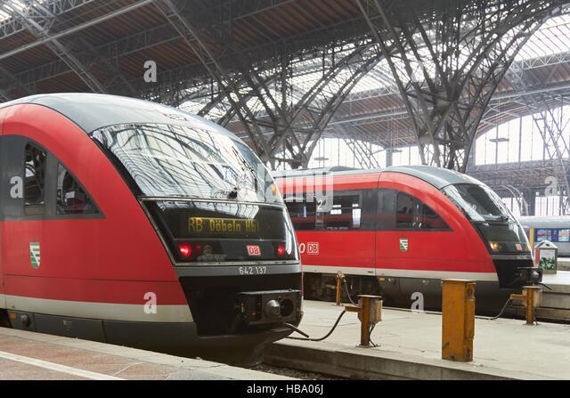Deutsche Bahn: Regionaltrains in Leipzig Stockbild