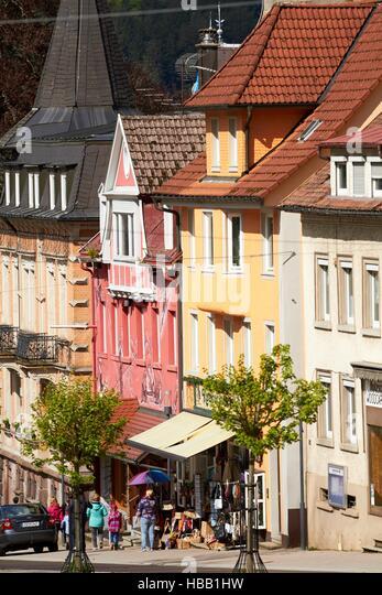 Schwarzwald: Altstadt von Triberg Stockbild
