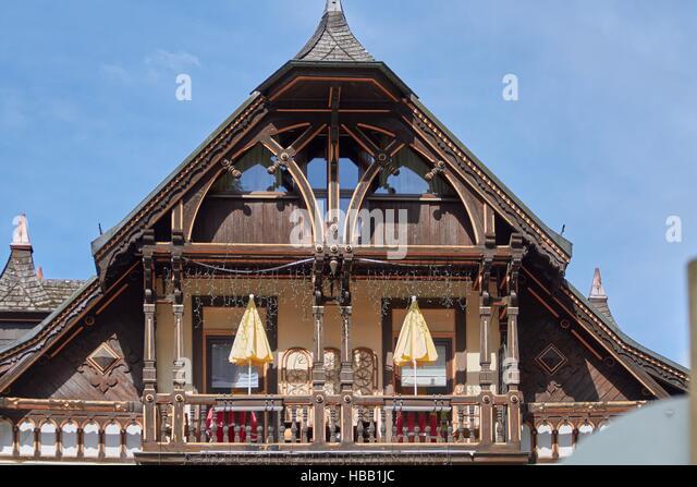 Schwarzwald: Altes Hotel in Triberg Stockbild