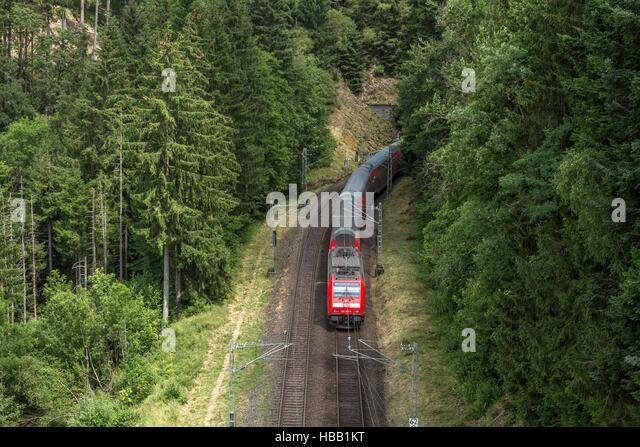 Deutsche Bahn: Regional-Zug im Schwarzwald Stockbild