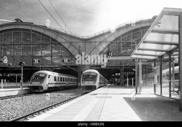 Leipziger Hauptbahnhof Stockbild