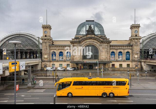 Trainer der StudentAgency in Dresden Stockbild