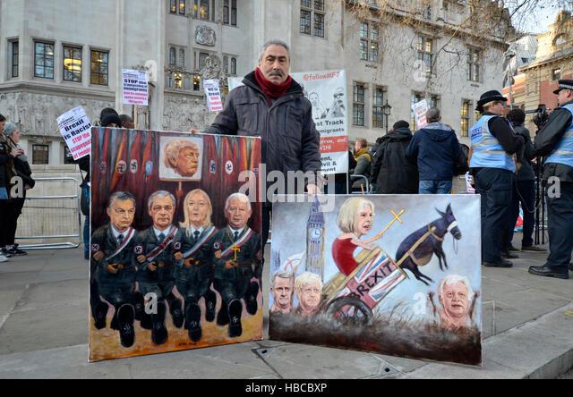 London, Großbritannien. 5. Dezember 2016. Das Oberste Gericht in Den Regierungen gegen die früheren hohen Stockbild